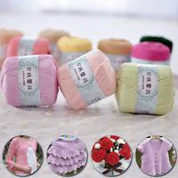 50g/Ball Thread No.5 Cotton Crochet Crafts Tatting Hand Knit Embroidery Yarn UK