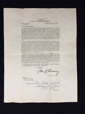 Rare WW-I Vintage Copy of Pershing's General Orders No. 38-A Dated 2-28-1919