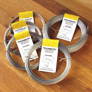 PICTURE WIRE Soft Braided Stainless Steel Light/Heavy Duty Frames Hanging Cord