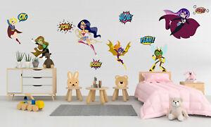 DC Super Hero Girls Custom Wall Decal Decor Sticker Vinyl Decor Art KA455
