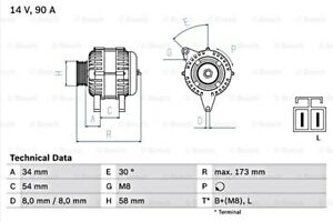 BOSCH Alternator 14V For HYUNDAI KIA Accent II III Coupe Elantra Rio 0986049191