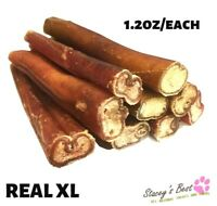 "6"" inch EXTRA THICK BULLY STICKS natural dog chews treats USDA & FDA approved"