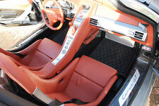 Porsche Carrera GT Quilted Aftermarket Alcantara Bespoke floor mats