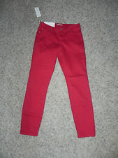 W.G.B. WALTER G BAKER RED DENIM RYAN PANT W2161 SIZE 28 INSEAM 28 NWT $118