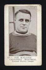 "1923-24 V145-1 WILLIAM PATERSON ~ #13 ~ JOE ""PHANTOM JOE"" MALONE ~ HALL OF FAME"