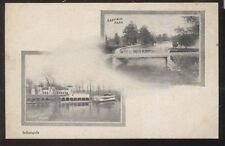 Postcard Indianapolis,Indiana/IN Garfield & Riverside Parks views 1906?