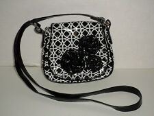VERA BRADLEY FRILL LOVES ME COMING UP ROSES NIGHT AND DAY CROSS BODY PURSE NICE