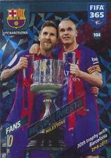 Fifa 365 Cards 2018 - 104 - Messi / Iniesta - FC Barcelona - Fans