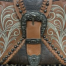 Montana West Ladies Concealed Gun Carrying Purse Tooled Leather Embroidered NWT