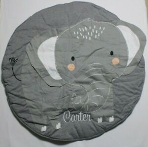 Elephant Personalized baby changing pad cover fits standard Color Gray New