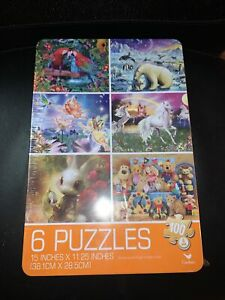 Lot of (6) 100pc. Puzzles-Cardinal-Colorful Designs-Sealed New