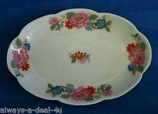 L/E/C Le Clair Limoges France White Porcelain Floral Tray / Candy Dish
