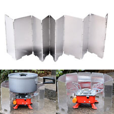 9 Plates Wind Deflectors Foldable Outdoor Camping Gas Stove Wind Shield Scre S=