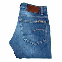 22109 G-Star 3301 Low Tapered Rl Rouge Lisière Lisières Homme Jean Taille 32/32