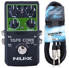 Nux tape Core Deluxe effet périphérique Delay pédale + KEEPDRUM Guitare Câble 6m
