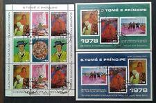 ST. THOMAS & PRINCE 1978, ART, PAINTINGS, PAUL GAUGIN, LOT, FREE SHIPPING!!!