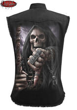 Spiral Direct BOSS REAPER SLEEVELESS STONE WASHED WORKER/Shirt/Rock/Metal/Skull
