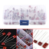 100Pcs 10 Values 10nF-470nF CBB Polypropylene Film Capacitors Set Assortment Kit
