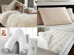13.5 TOG Super Soft Teddy Bear Sherpa Wool Feel Anti-Allergy Quilt Duvet Pillow