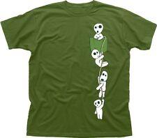 MONONOKE Forest spirito Kodama MANGA ANIME Miyazaki T-shirt di Cotone tc9602