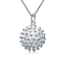 925 Silver Plt Fireworks Pendant Necklace Bang Explosion Hedgehog Flower A