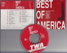 TWA Best Of America PROMO CD Toto  Santana Bill Withers Marvin Gaye Miles Davis