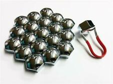 Push On Automotive Wheel Nut Bolt Chrome Covers 21mm Non Rust Finishing Touch