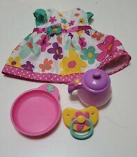 2012 Baby Alive Real Surprises Doll Bottle Bowl Pacifier Dress Orginal Set