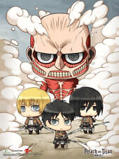 Attack on Titan - Chibi Clouds 3D Lenticular Wall Art Poster 18x24
