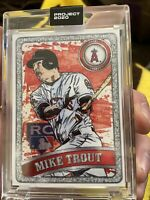2020 Topps Project #100 Mike Trout Blake Jamieson RC Rookie Free Shipping