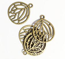 Bulk 50 pcs of Antique brass pendant 27x22mm, bronze alloy pendant