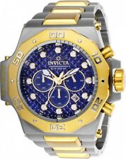 @NEW Invicta 52mm Akula Chronograph Gold Tn Stainless Steel Bracelet Watch 23101