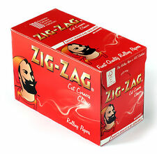 ZIG ZAG Red Cut Corners Rolling cigarette paper x 100 booklets = 6000 papers