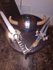How To Train Your Dragon Viking Helmet 2010 Dreamwork Kids  hat w horns & SWORDS
