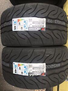 2x 265/35 R18 Yokohama Advan Neova AD08RS 93W Road Legal Race Tyres