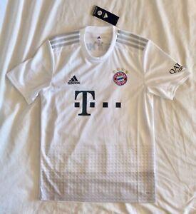 Men's Medium ($90 Retail) Adidas FC Bayern Munich 19/20 Away Soccer Jersey White