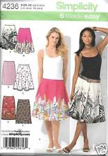 4236 MISSES 6 EASY SLIM, FULL CIRCLE SKIRTS  SIZES 6-14 NEW SIMPLICITY PATTERN