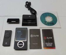 Black Microsoft Zune 30gb Digital Media Player Mp3 Fm Radio Cd Software Bundle