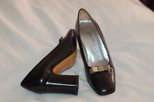 Pedro Garcia Espara Black Leather Pumps Shoes Size 34