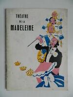 programme Théâtre de la Madeleine LE PASSAGE DES PRINCES 1933