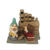 Disney Store Lil Classics Snow White Dwarfs Figurine Grumpy Bashful Organ Piano