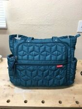 Skip Hop Diaper Bag, Quilted Blue, Full Size Tote, Used (Very Good)