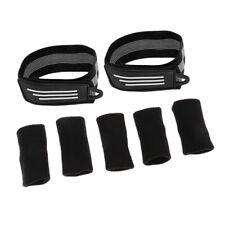 2 Pcs Cycling Bike High Elastic Pants Band with 5pcs Finger Protector