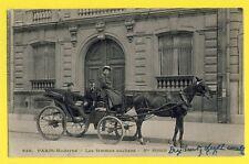 Carte Postale Ancienne FRANCE PARIS FEMME COCHERS Valentin's Company COACHWOMAN