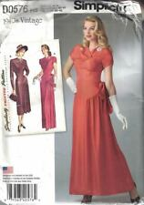 Simplicity D0576 8249 1940's Day & Evening Dress Bodice w/ 2 Sections Sz 6-14