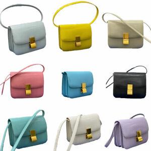 Lizard Effect Real Leather Flap Box bag Shoulder bag Purse Crossbody Square bag