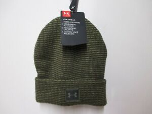 UNDER ARMOUR (COLD GEAR) BRANDED YOUTH/BOYS WINTER HAT NWT $20 ARMY GREEN SHARP!