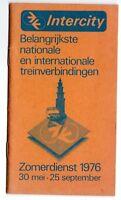 INTERCITY, Summer 1976 Train Timetable, Dutch, Holland, National & International