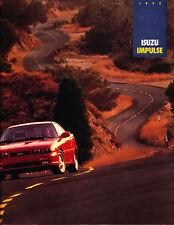 1992 Isuzu Impulse and Turbo RS 12-page Original Car Sales Brochure Catalog