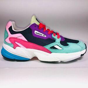 Womens Adidas Originals Falcon Collegiate Navy Multicolor Sneaker Size 9 CG6211